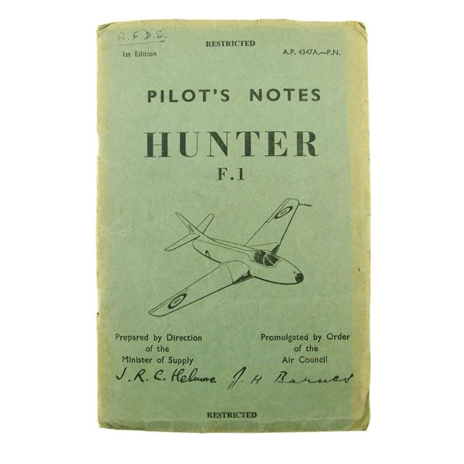 RAF pilot's notes, Hunter F.1