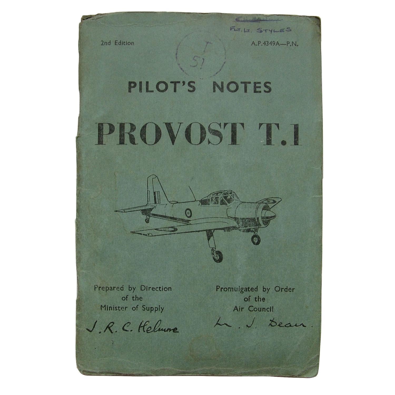 RAF pilot's notes - Provost T.1
