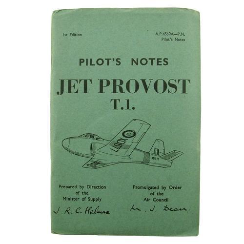 RAF Pilot's notes - Jet Provost T.1