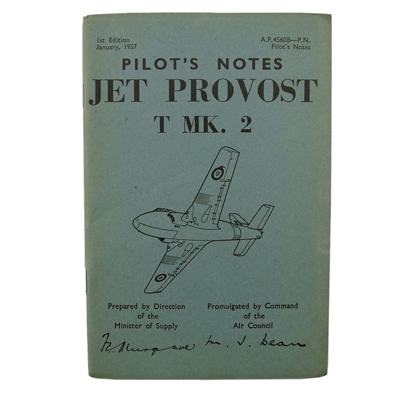 RAF pilot's notes - Jet Provost T Mk.2