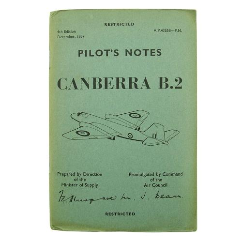 RAF Pilot's notes - Canberra B.2