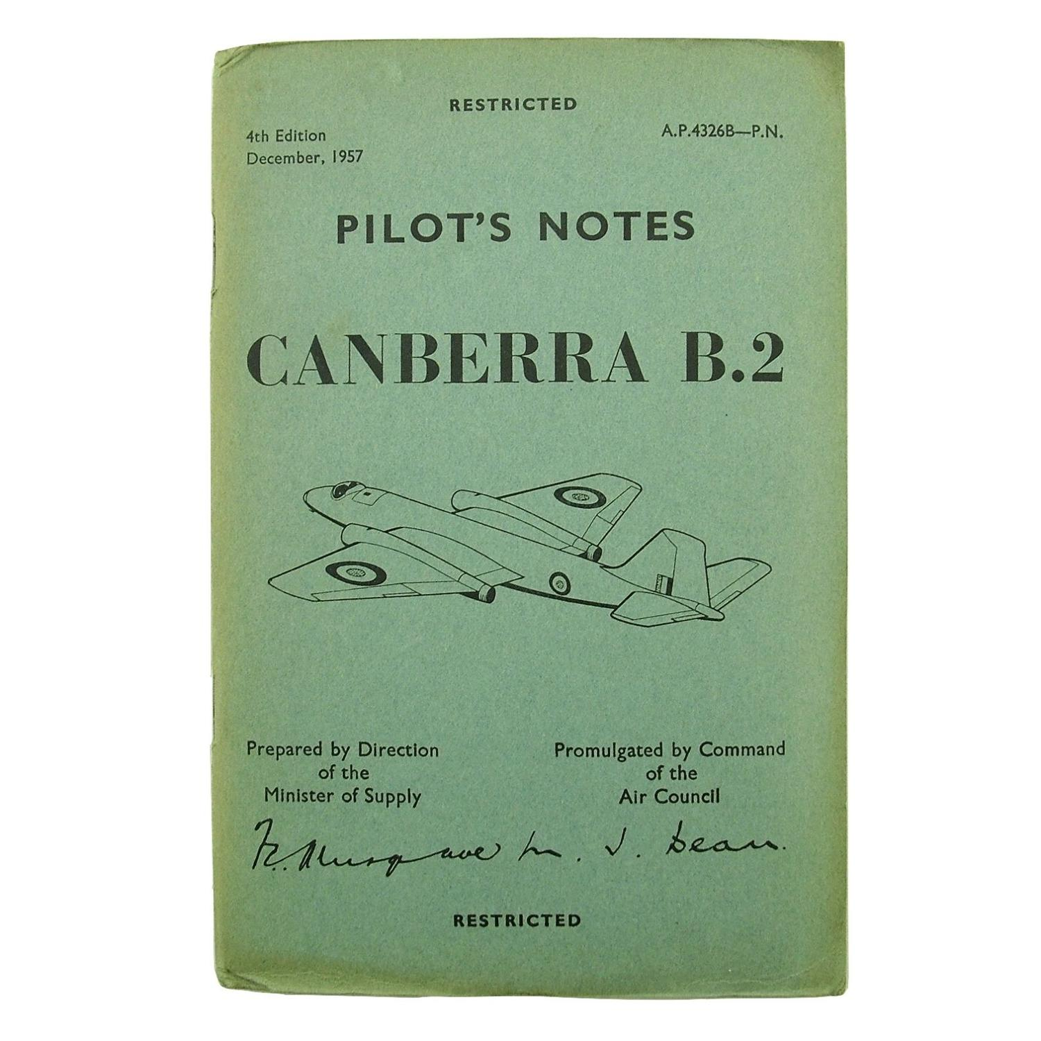RAF Pilot's notes - Canberra B.2