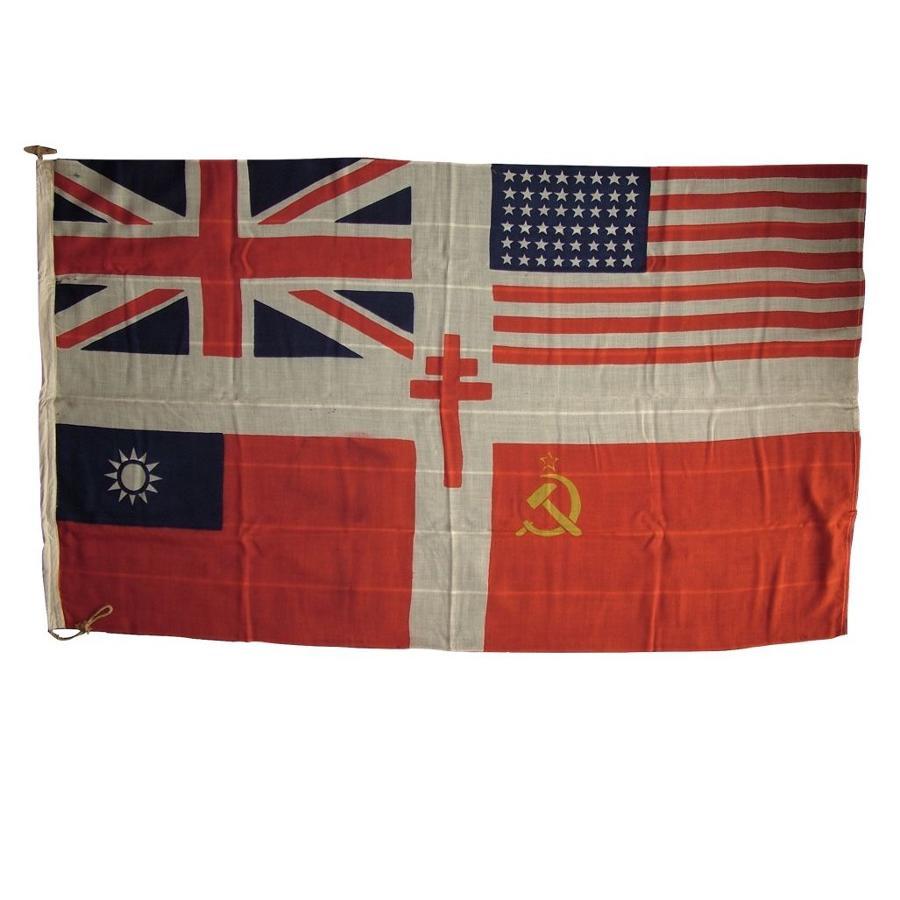 WW2 allied forces flag
