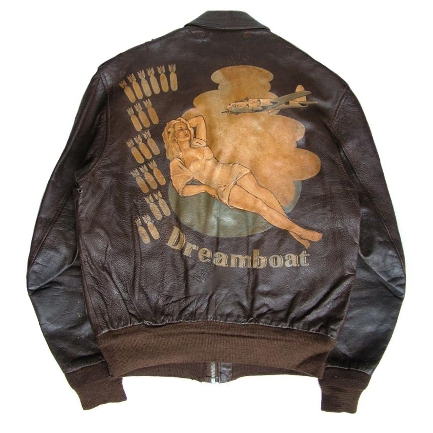 USAAF A-2 flying jacket - painted