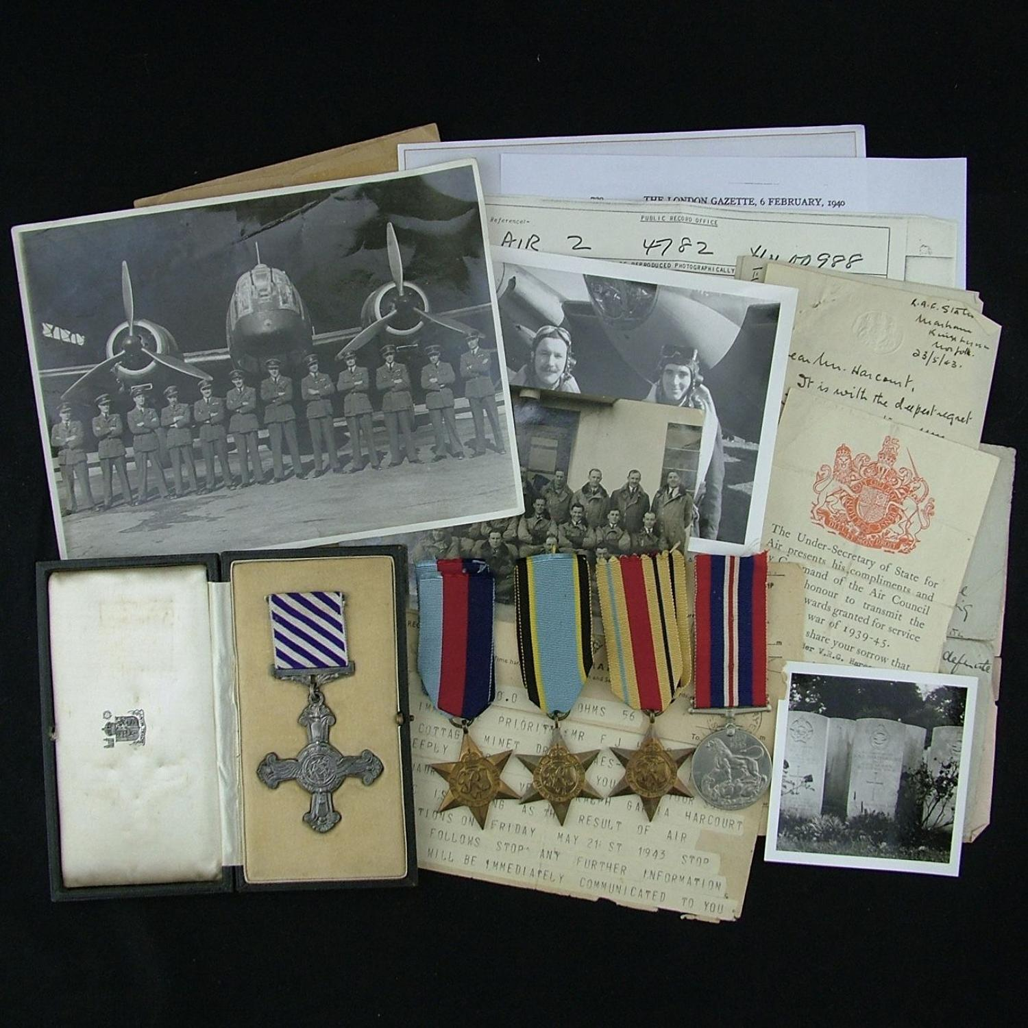 RAF DFC Casualty Group & Ephemera
