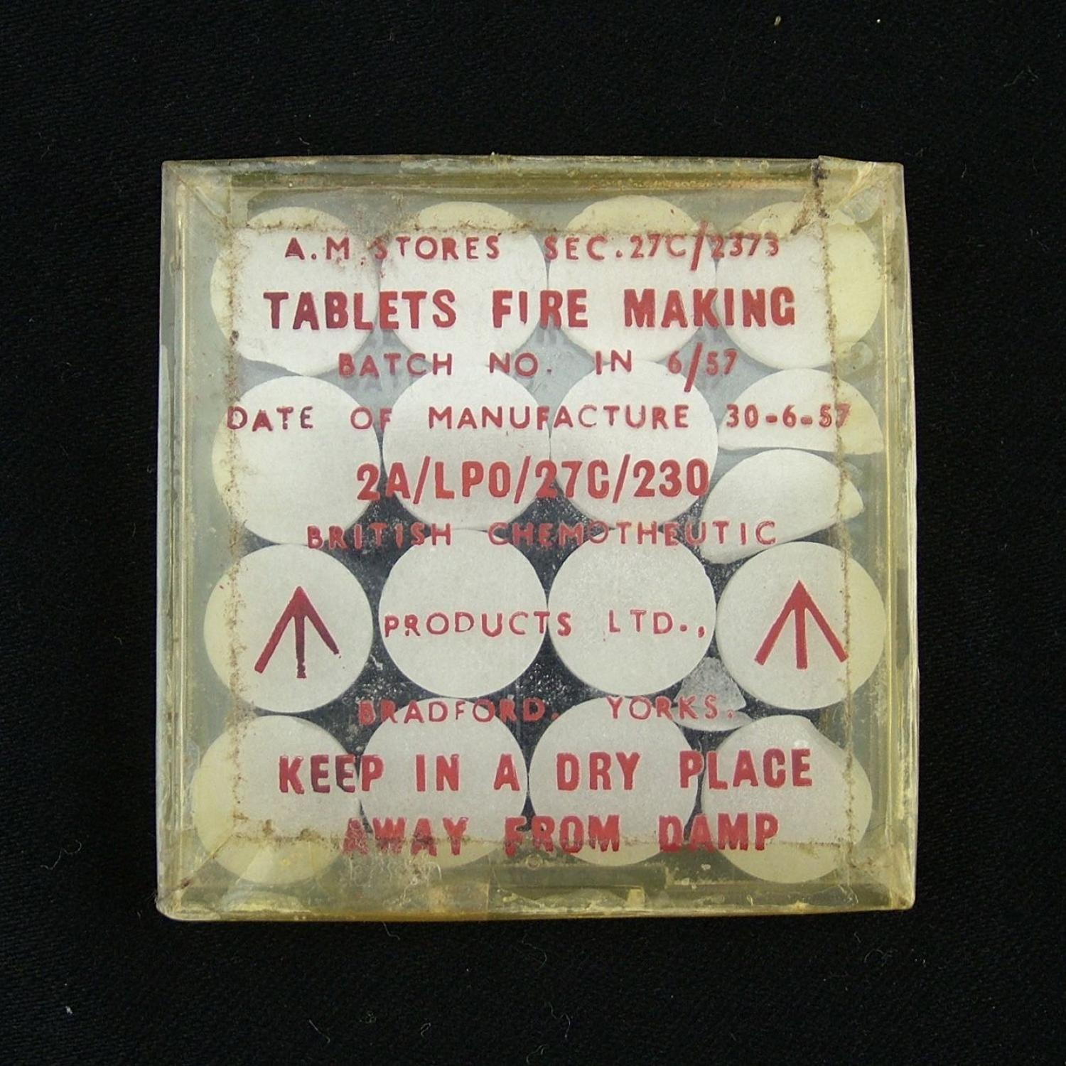 Air Ministry Survival Kit Fire Making Tablets