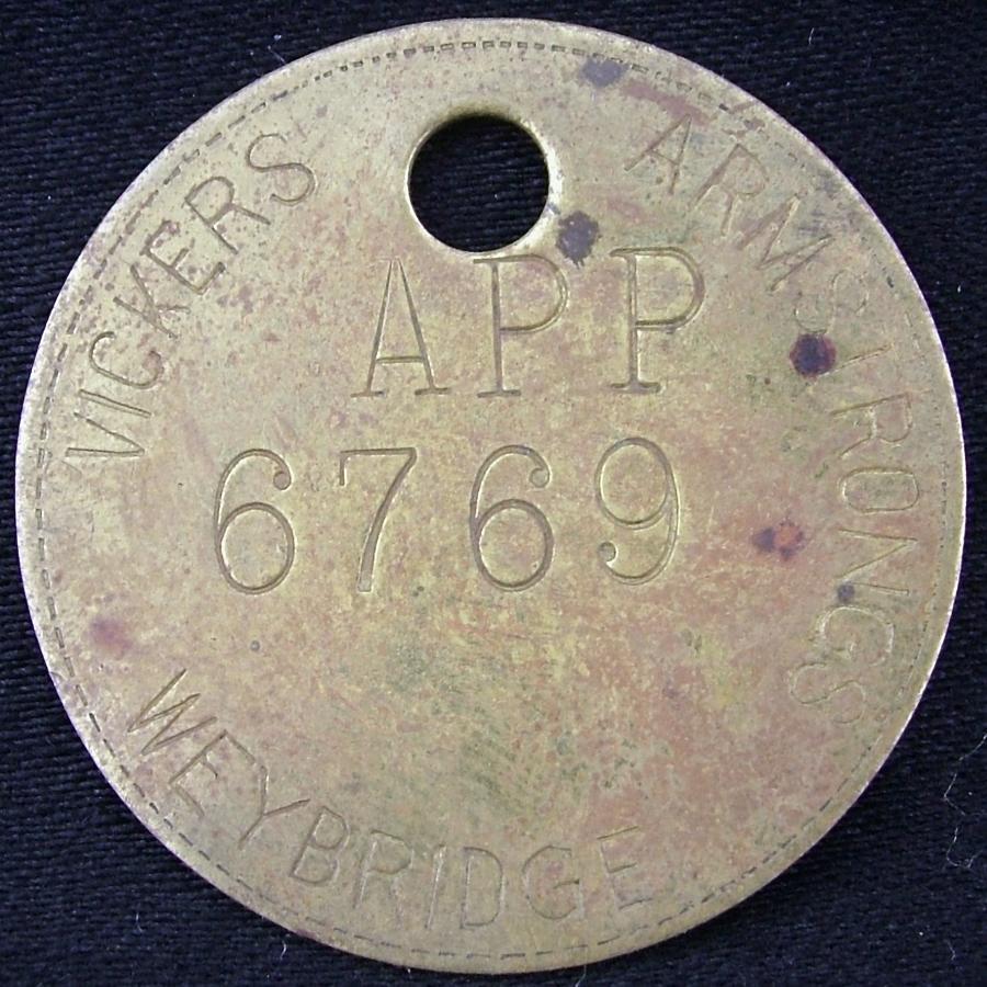 Vickers Armstrong Weybridge Token