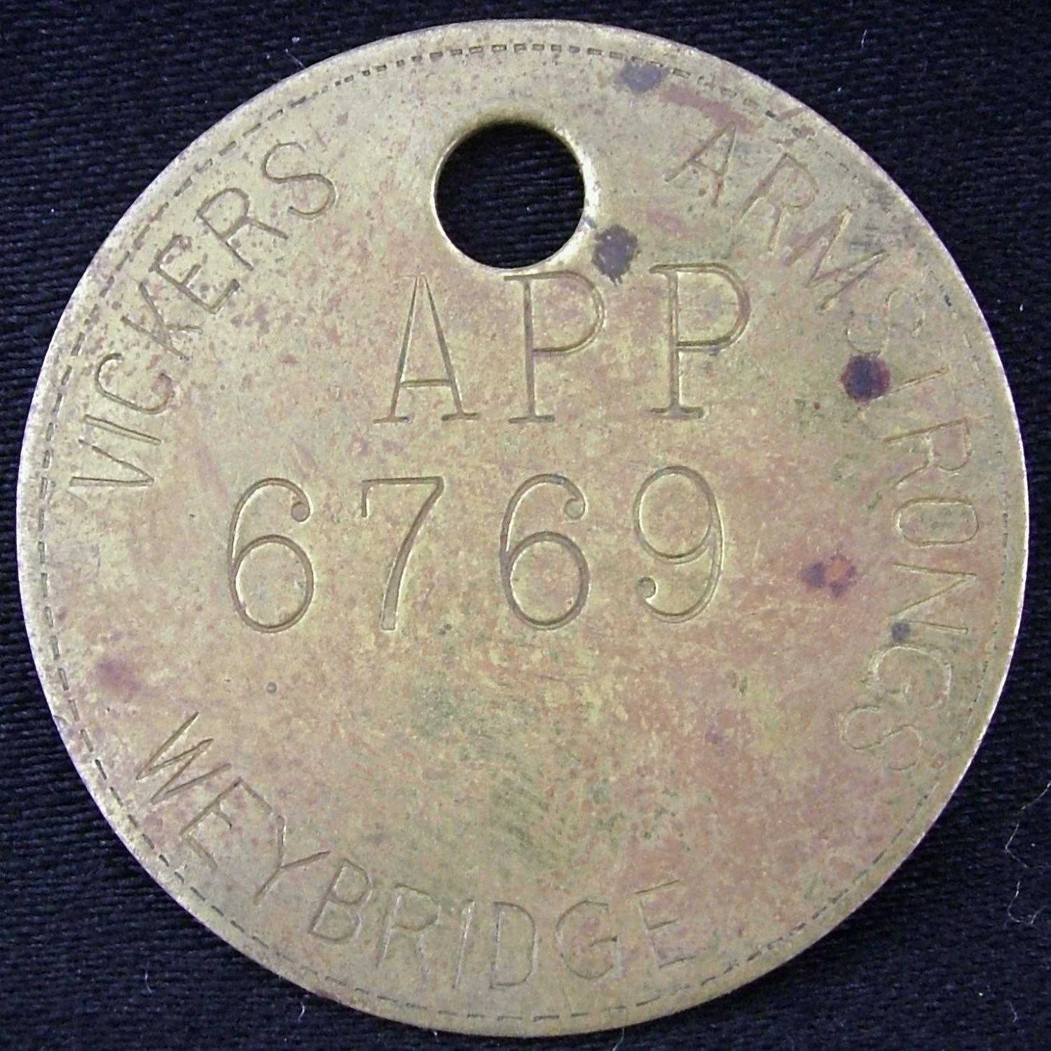 Vickers Armstrong Weybridge Token