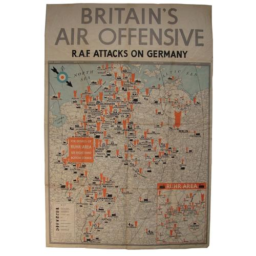Britain's Air Offensive Poster - RAF Attacks On Germany
