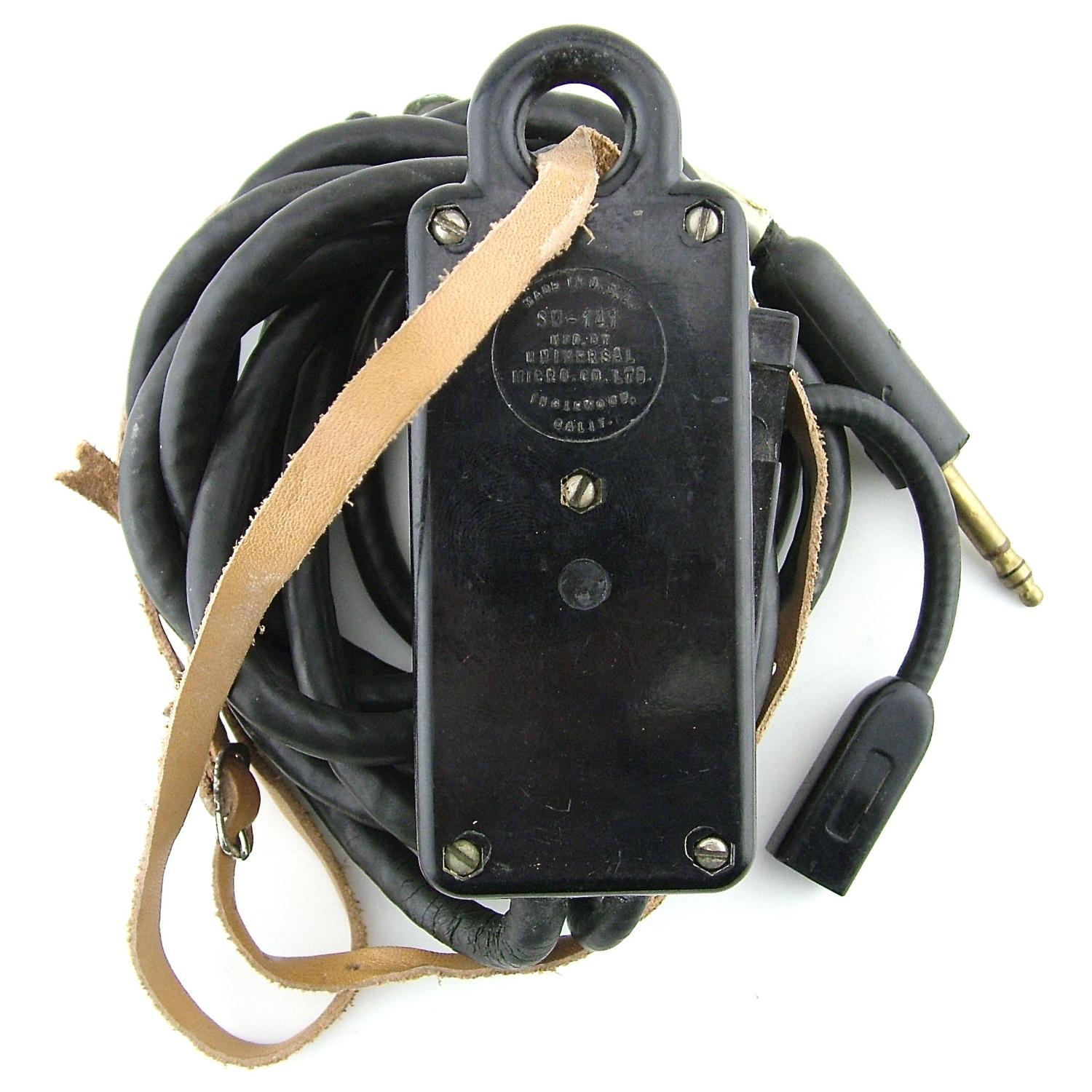 USAAF throat microphone extension cord, CD-318