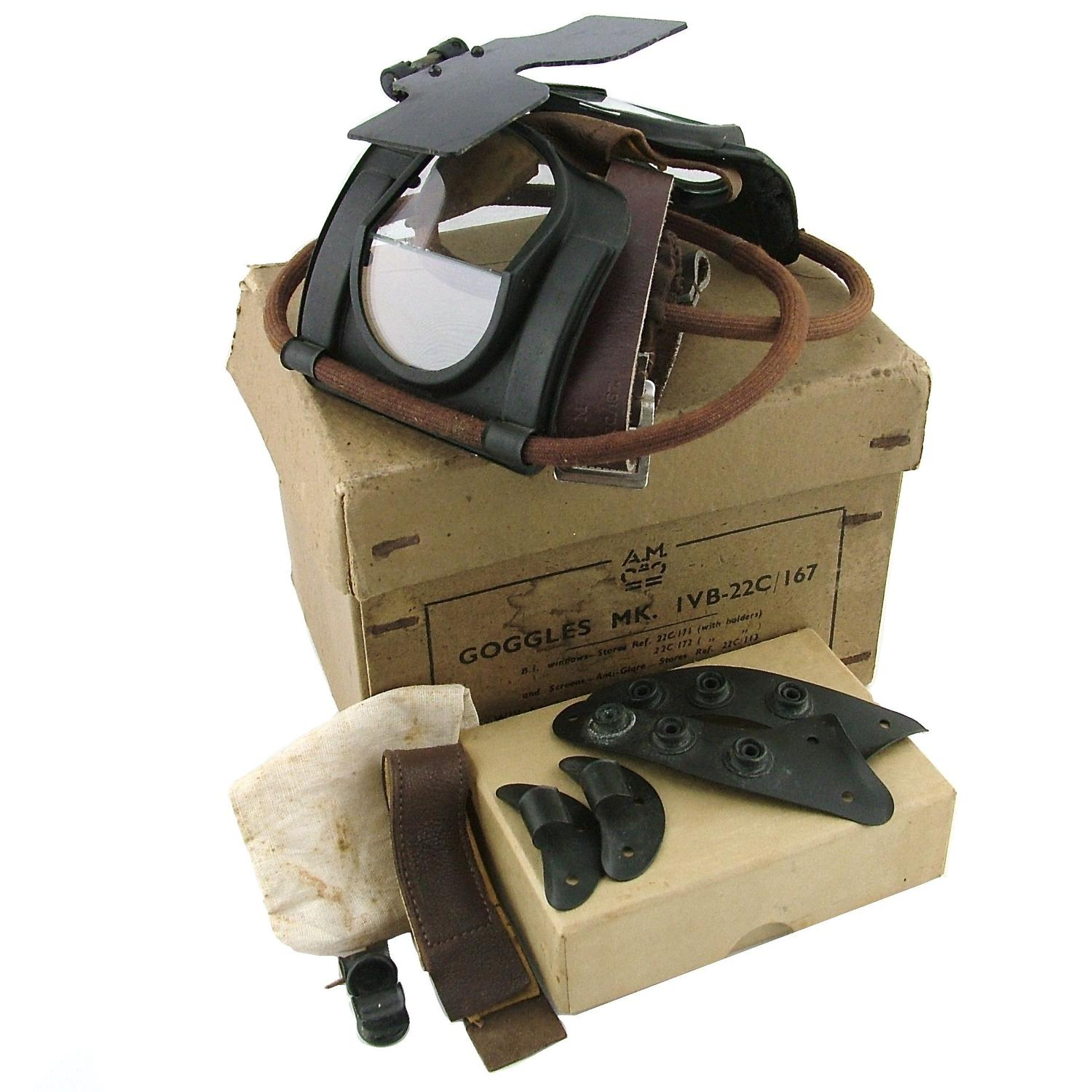 RAF Mk.IVB flying goggles, complete, boxed