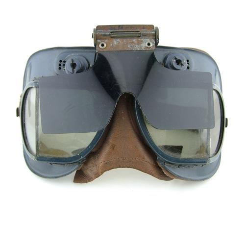 RAF Mk.VII flying goggles with anti-glare shield