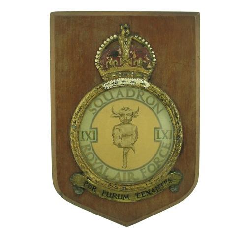 RAF 61 Squadron plaque