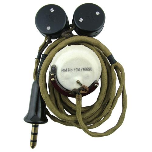 RAF type 19 microphone / wiring loom, part reproduction
