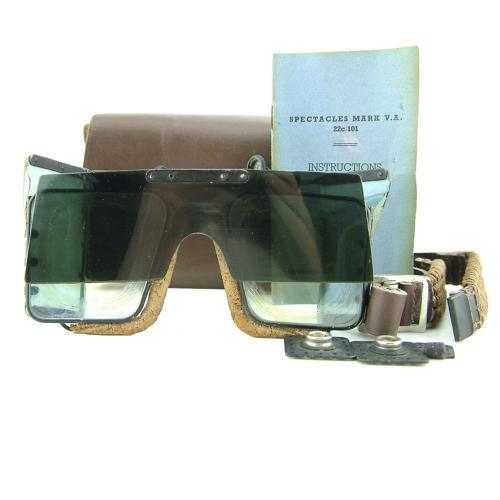 RAF Mk.VA flying spectacles, cased