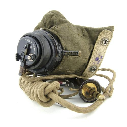 RAF type D oxygen mask with type 54 adaptor and loom