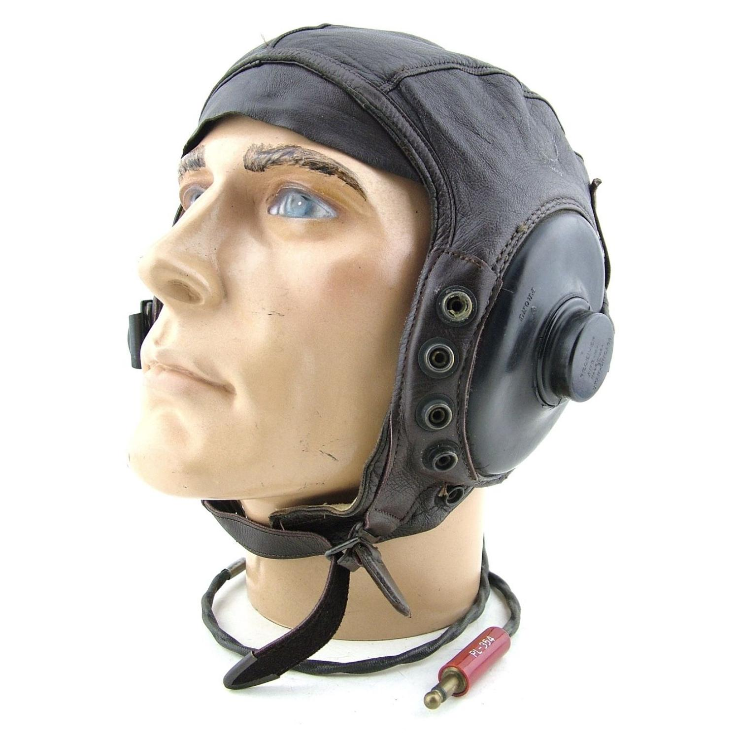 USAAF A-11 intermediate flying helmet, wired