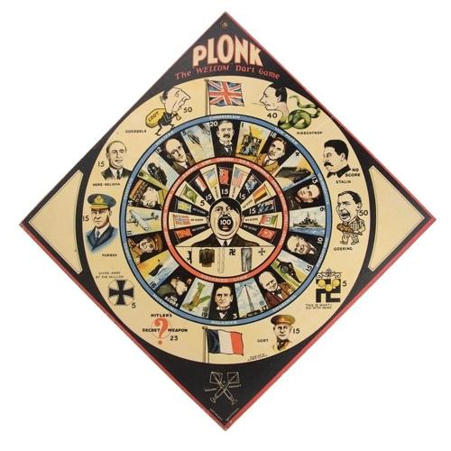 PLONK wartime propaganda dart game