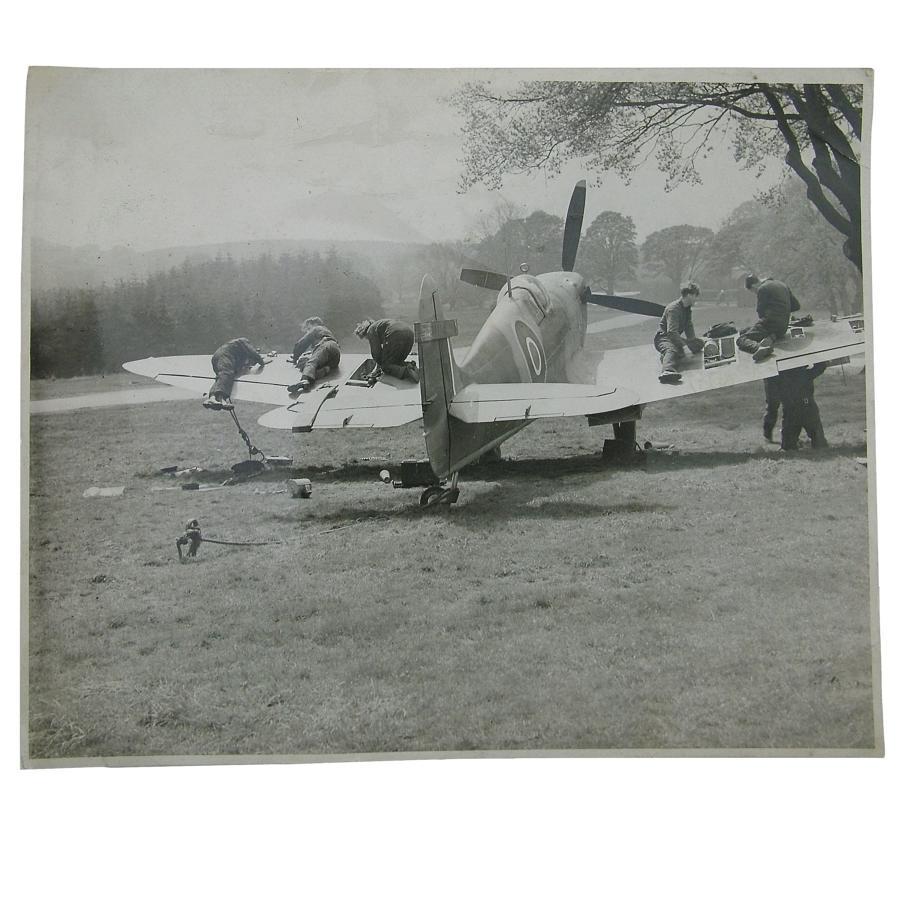 Photograph - Spitfire maintenance
