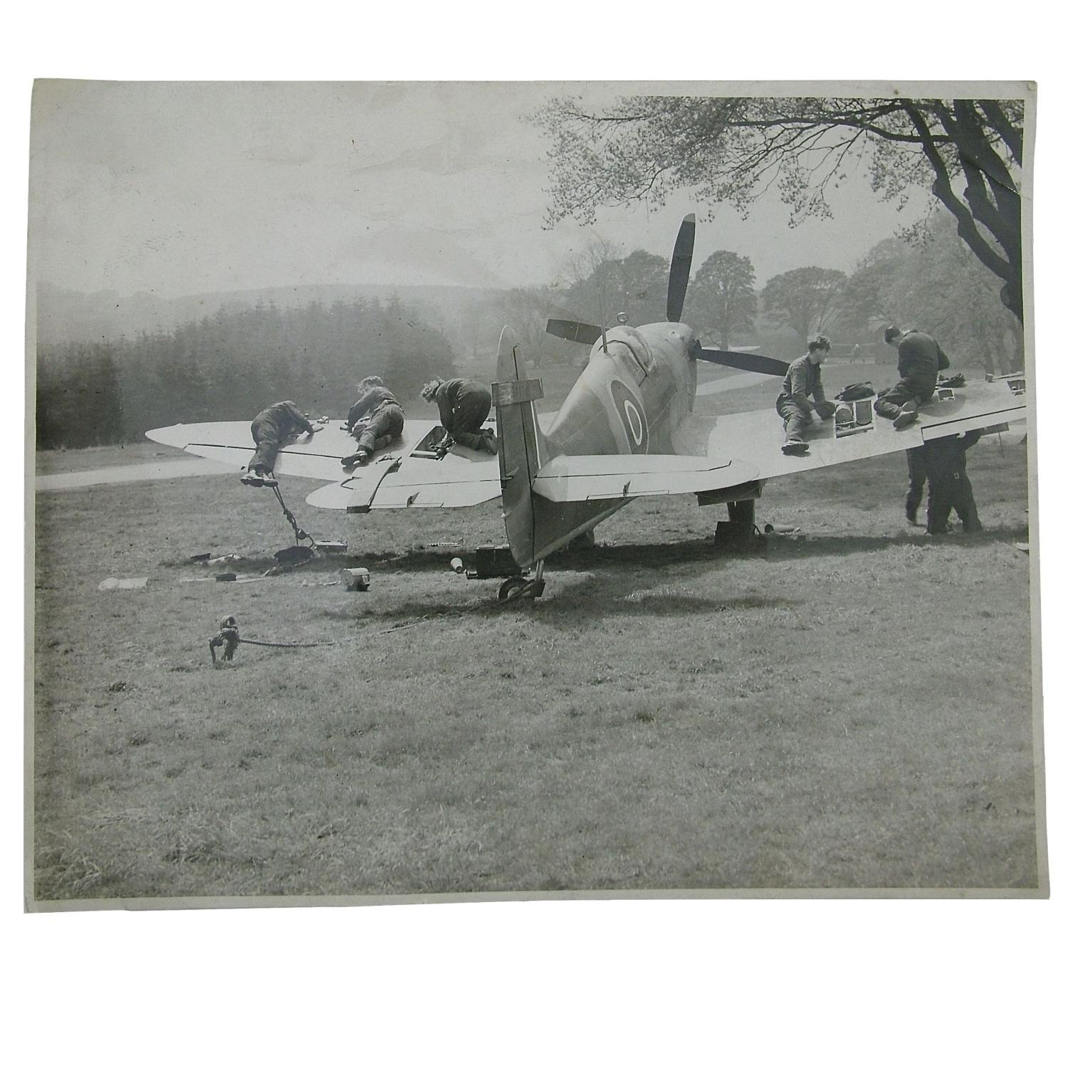 Photograph - Spitfire maintenance