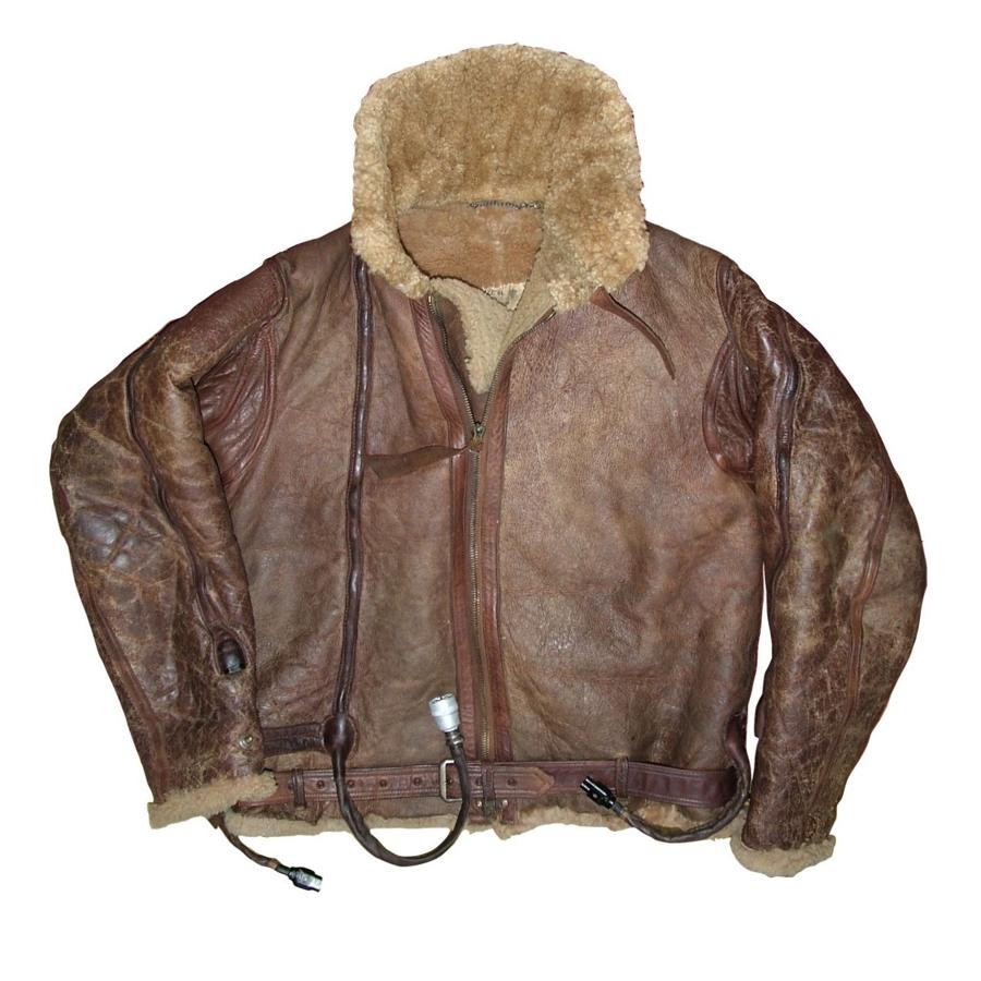 RAF Irvin flying jacket, wired