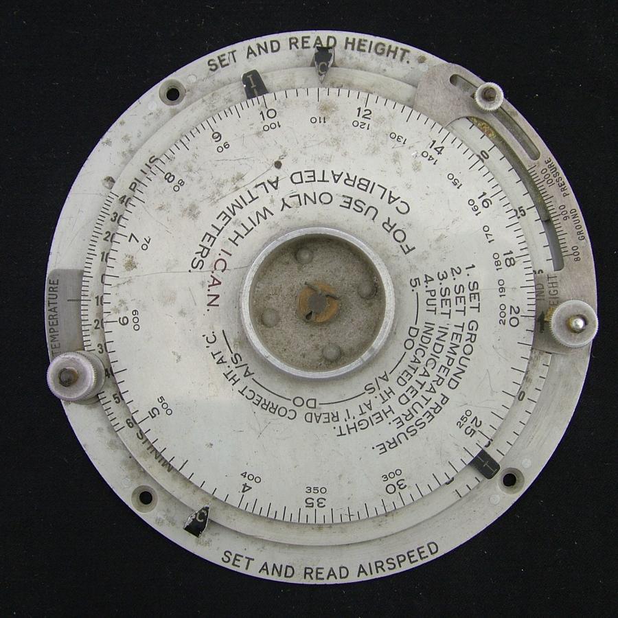 RAF computor, height & airspeed, Mk.II