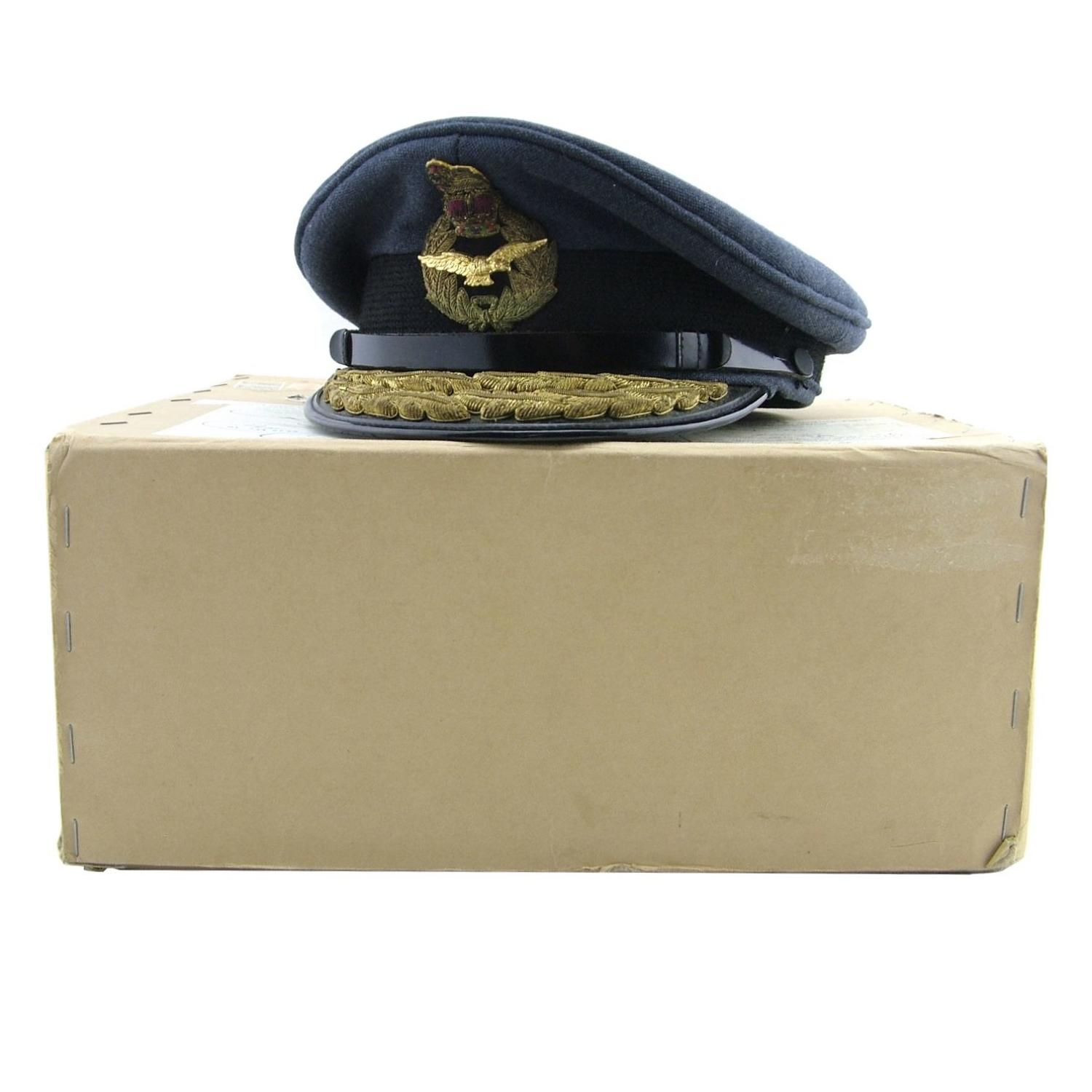 RAF 'Air Rank' service dress cap, boxed - history