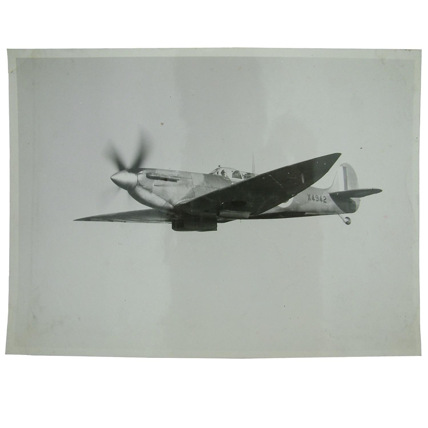 Press photo - Spitfire in flight