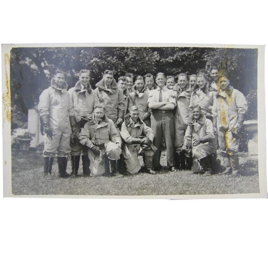 Postcard photo - RAF aircrew recruits