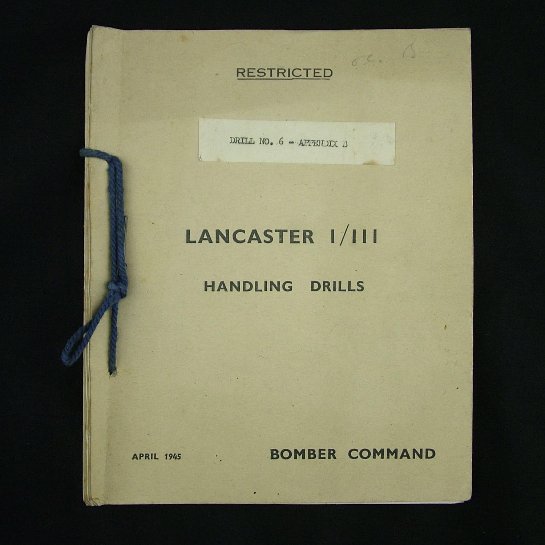 RAF Lancaster bomber handling drills