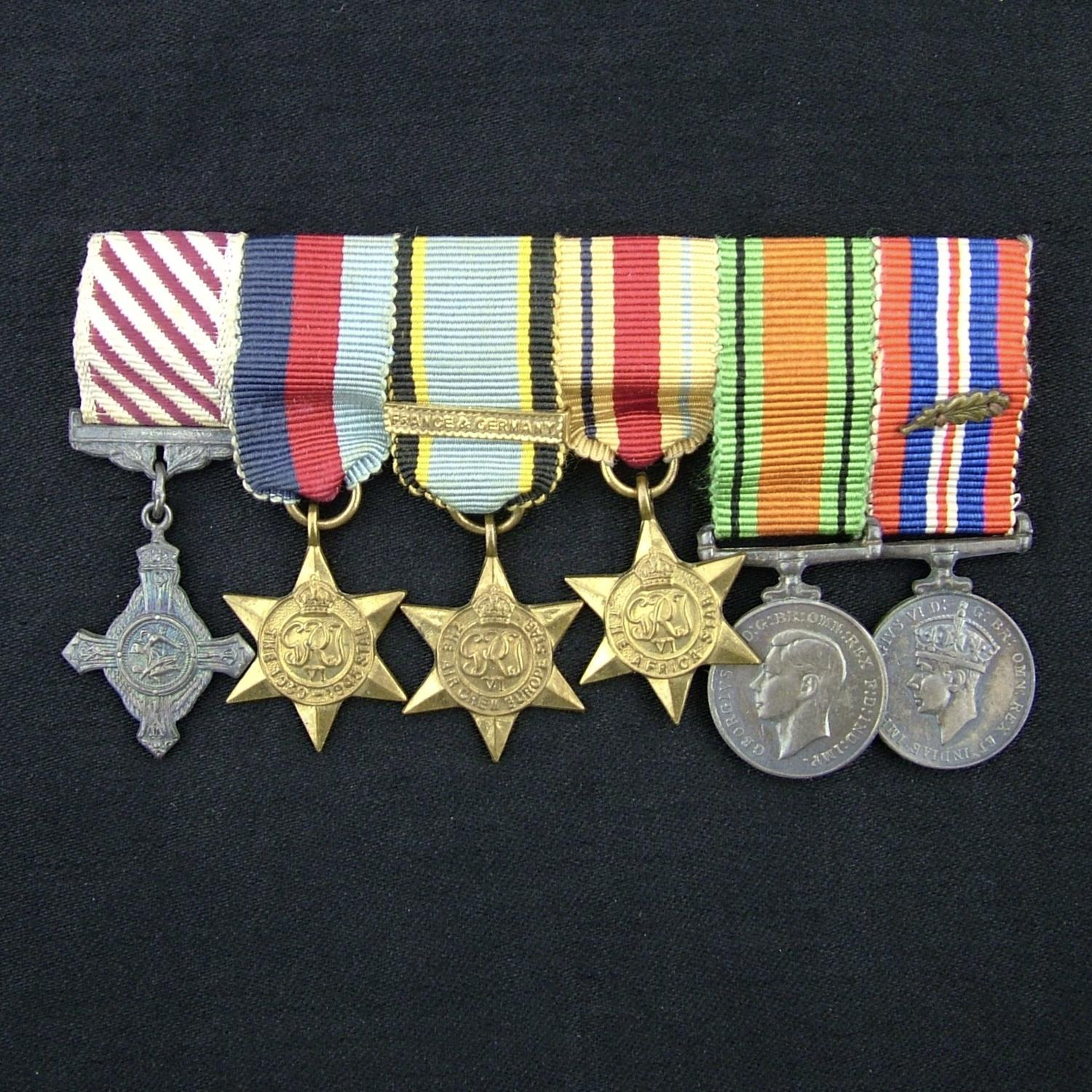 RAF AFC miniature medal grouping
