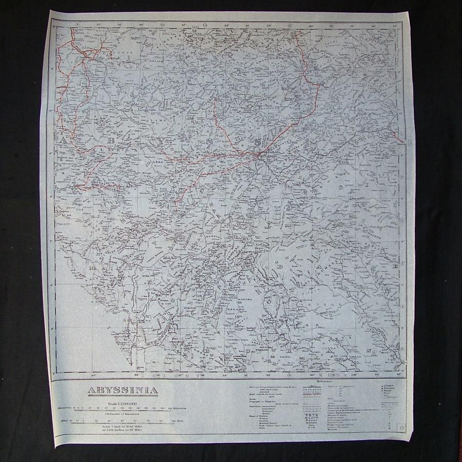 RAF tissue paper escape map - Abyssinia