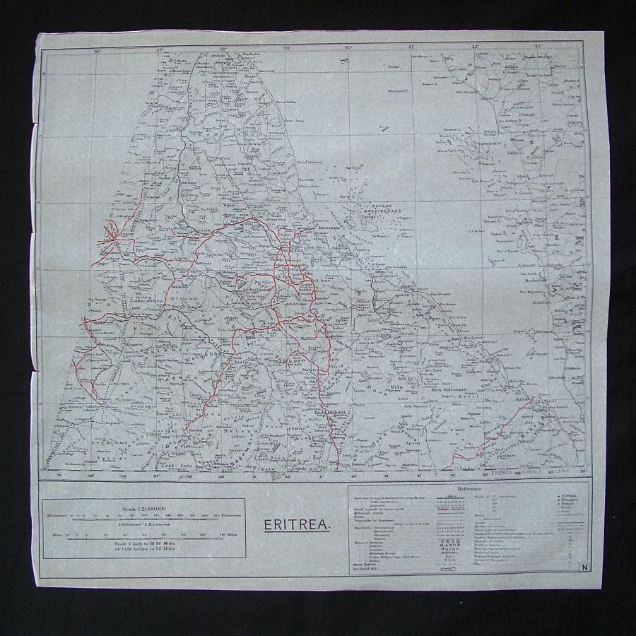 RAF tissue paper escape map - Eritrea