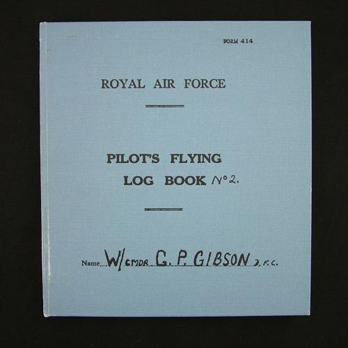 Wing Commander Guy Gibson  flying log book No.2