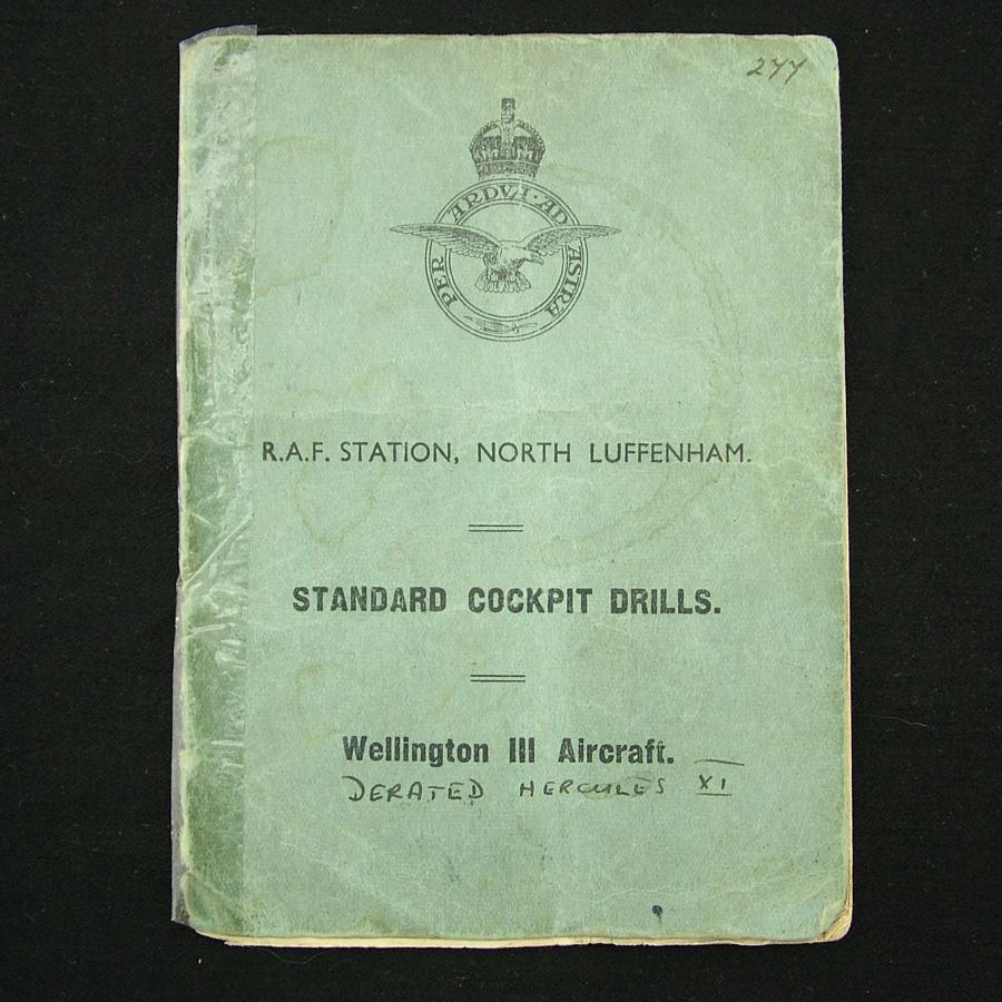 RAF Standard cockpit drills - Wellington bomber