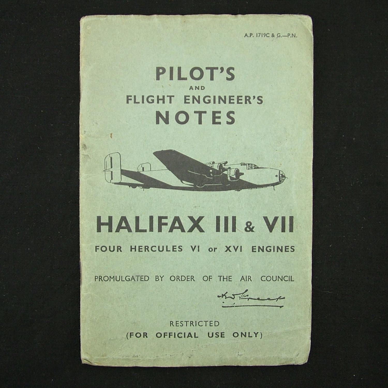 RAF pilot's notes - Halifax III & VII