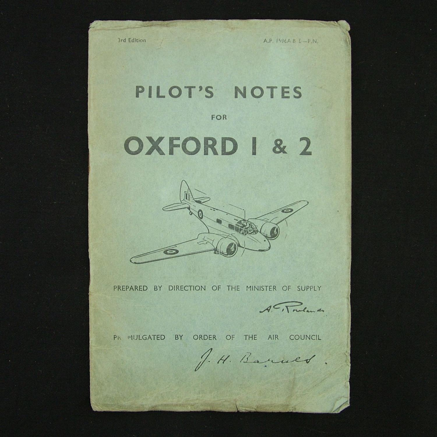 RAF pilot's notes - Oxford I & 2
