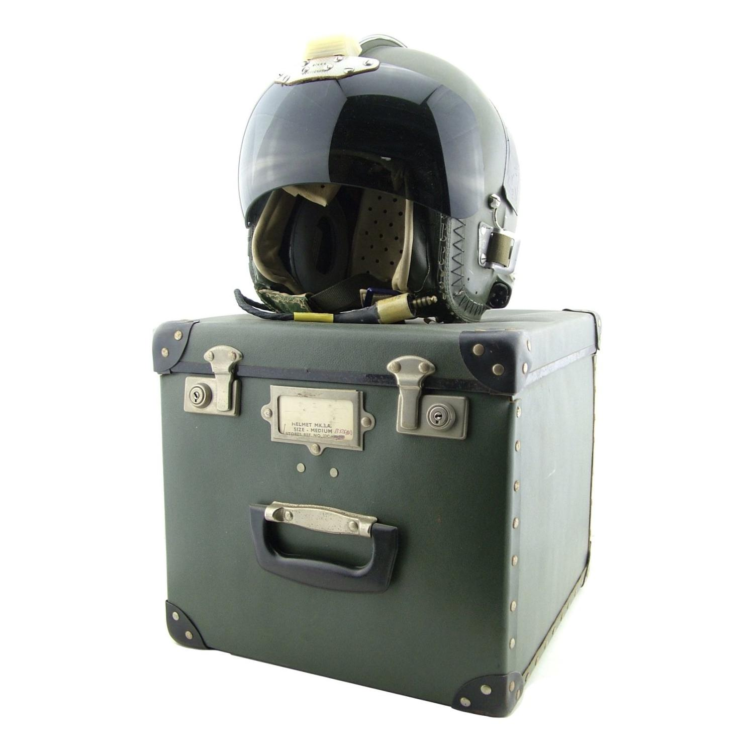 RAF Mk.3A flying helmet, cased