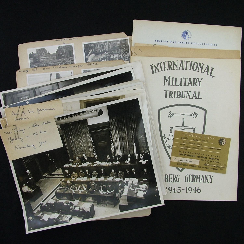 Nuremberg war trials - British delegation documents & photographs