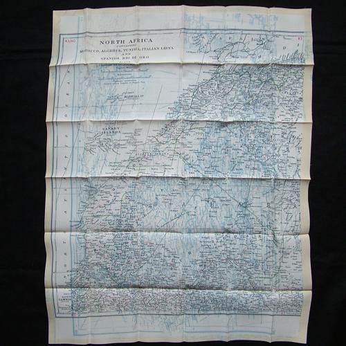 RAF escape & evasion map - North Africa
