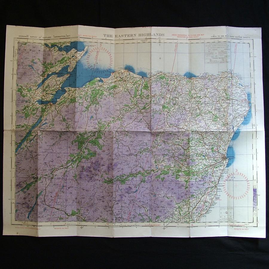 RAF flight map - Scotland, Eastern Highlands