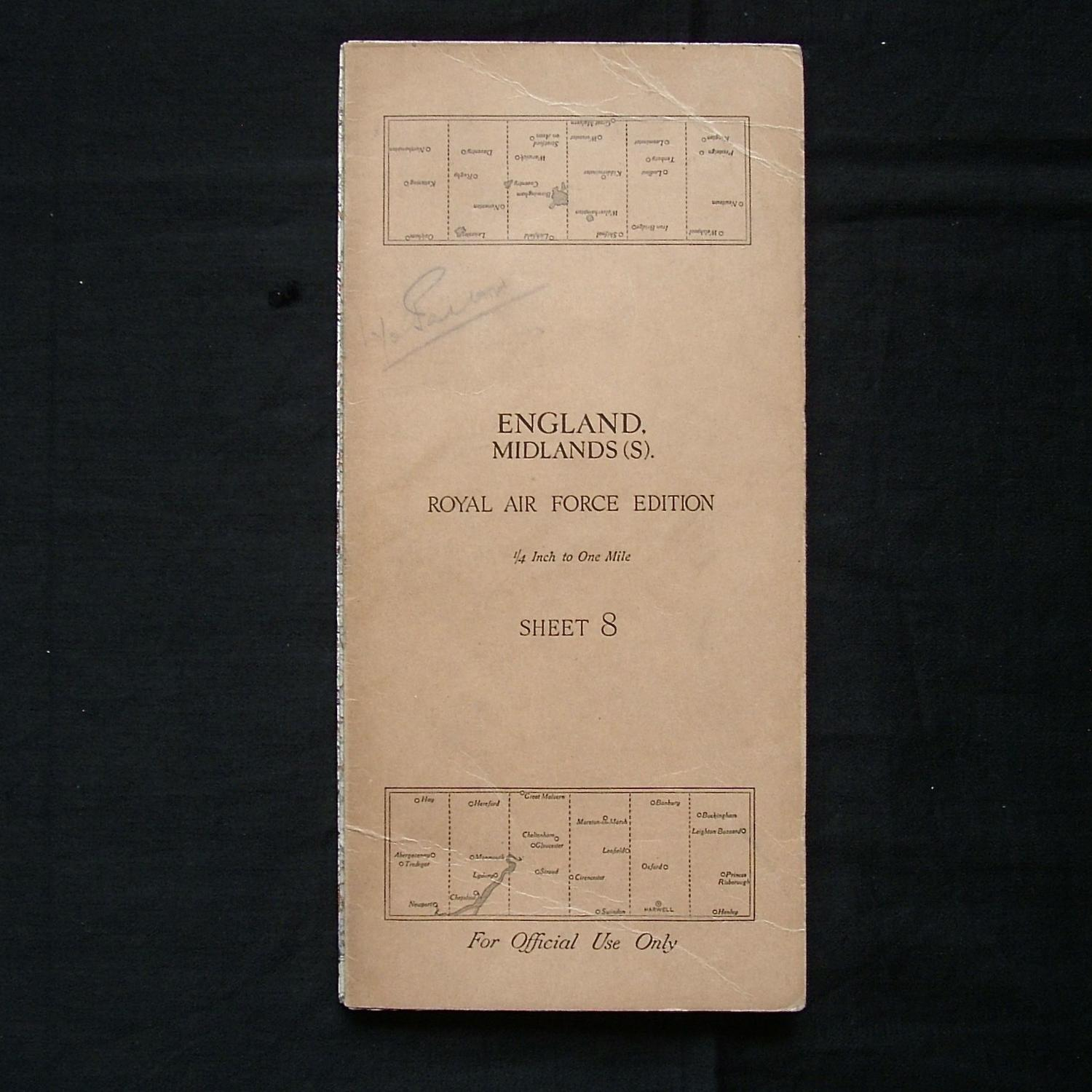 RAF flight map, Midlands (S)