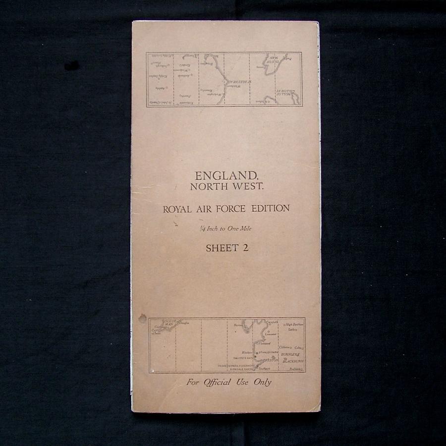 RAF flight map, England, North West