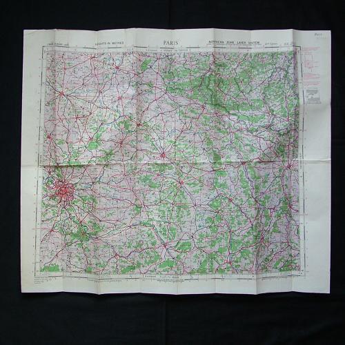 RAF flight map, Paris