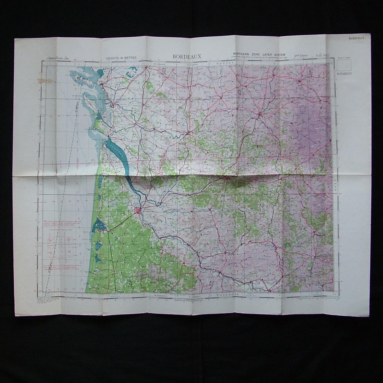 RAF flight map, Bordeaux