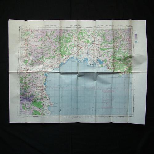 RAF flight map, Marseilles