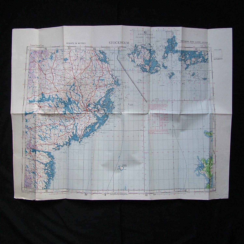 RAF flight map, Stockholm