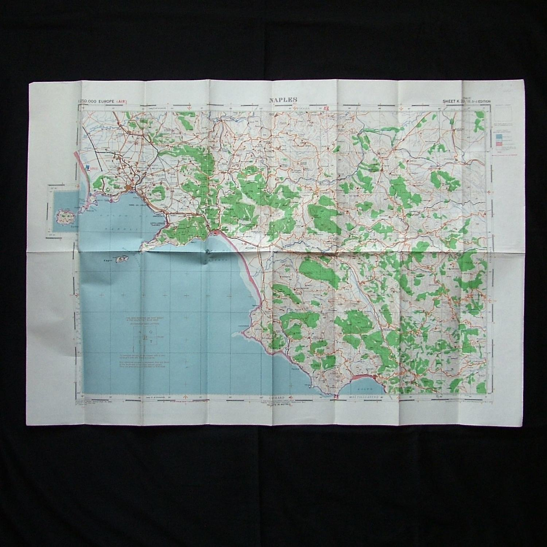 RAF flight map, Naples