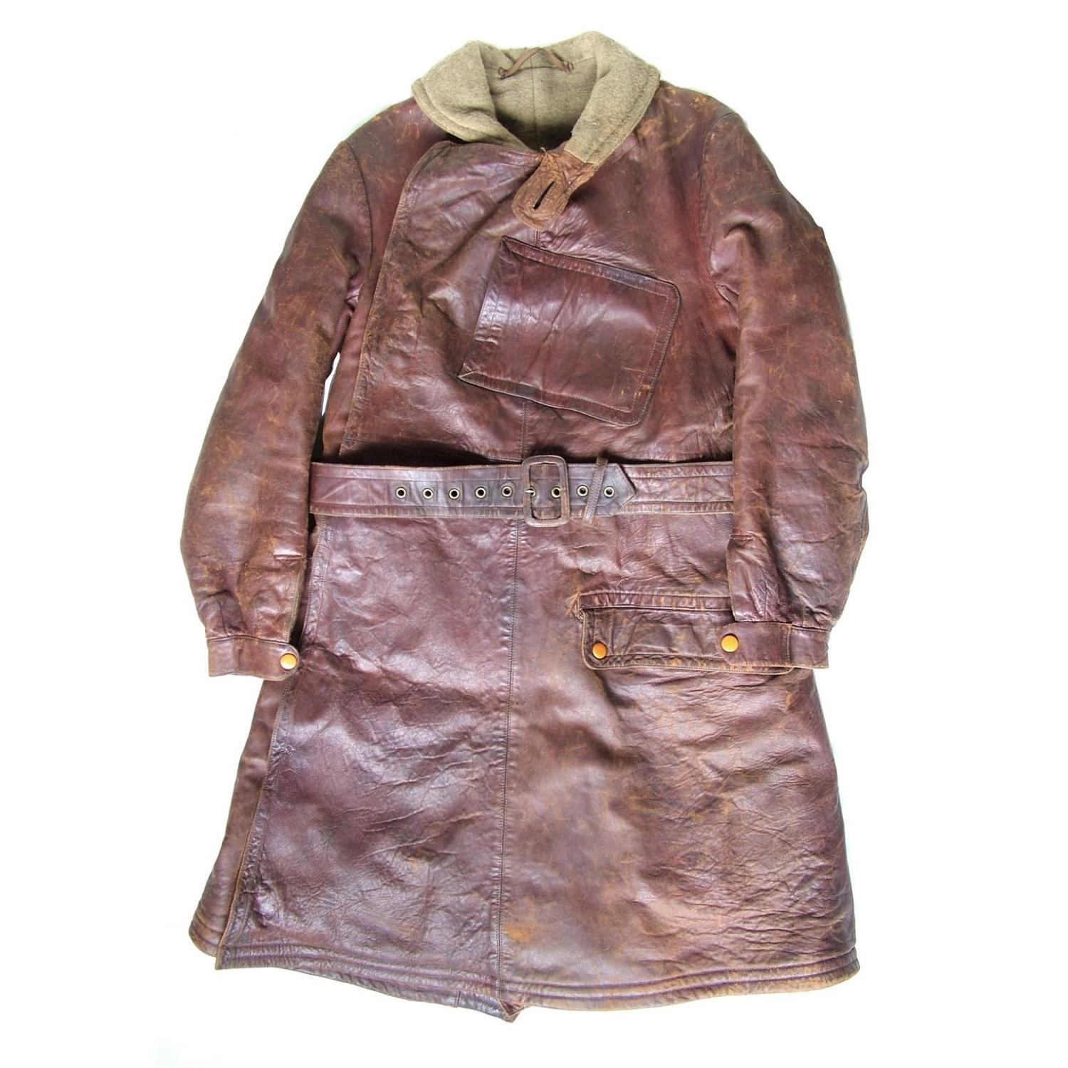 WW1 leather flying coat