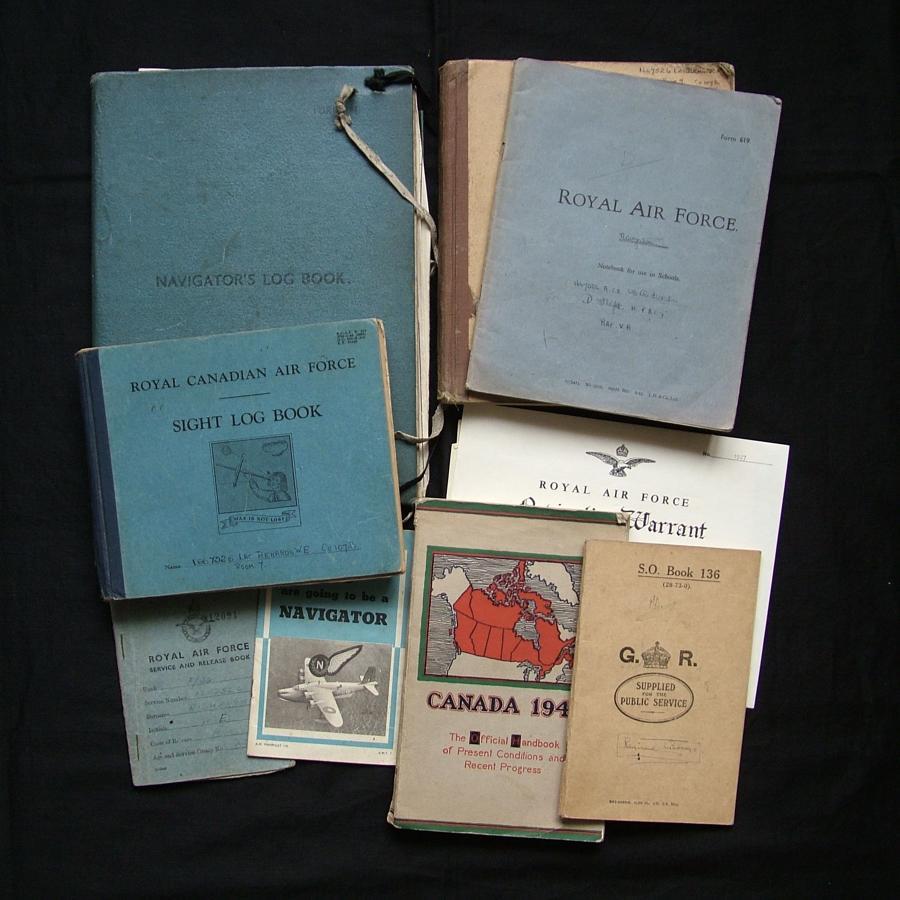 RAF Navigator's paperwork, sight log book, service & release book etc